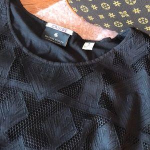 Like new Maison Scotch Black lace overly size 2